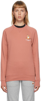 MAISON KITSUNÉ Red Lotus Fox Sweatshirt