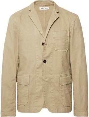 Alex Mill Beige Sack Unstructured Stretch Cotton-Twill Blazer