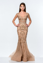 Terani Couture Embellished Scoop Neck Mermaid Gown 151GL0425B