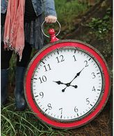 Bed Bath & Beyond Metal Pocket Watch Clock in Watermelon