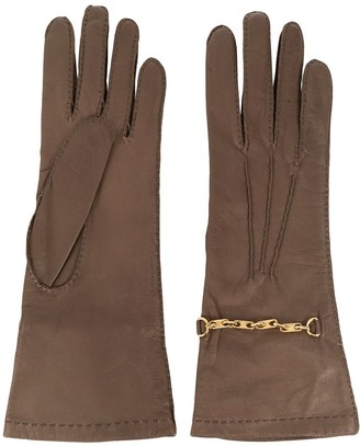 Céline Pre Owned 1970s Pre-Owned Chain-Embellished Gloves