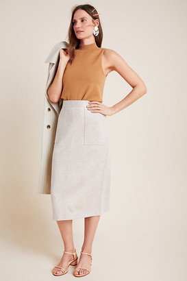Clarisa Pencil Skirt By Current Air in White Size 2