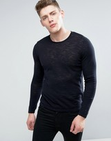 Celio Knitted Jumper With Roll Hem Detail