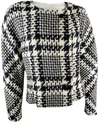 Karl Lagerfeld Paris Black Wool Coat for Women