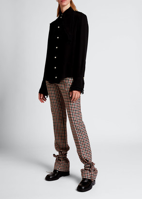 J.W.Anderson Silk Georgette Layered Blouse