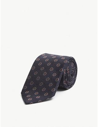 Bigi Cravatte Floral-pattern silk tie