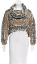 Yigal Azrouel Patterned Crop Sweater