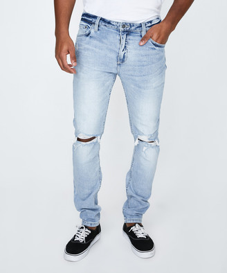 ROLLA'S Stinger Rip Jeans Bleach Blue