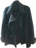 Free People Black Viscose Coats
