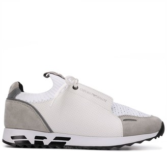 Emporio Armani Panelled Colour Block Sneakers