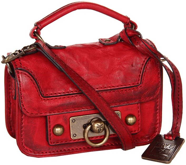 Frye Cameron Micro (Burnt Red Antique Pull Up) - Bags and Luggage