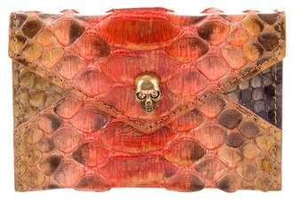 Alexander McQueen Python Card Holder