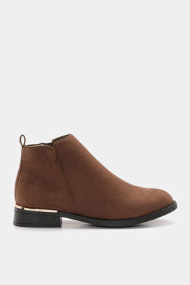 Ardene Faux Suede Ankle Boots - Shoes |