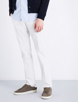 SLOWEAR Garment-dyed slim-fit stretch-cotton twill chinos