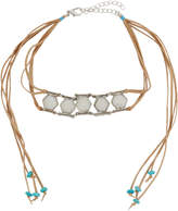 Berry Jewelry Double-Row Bezel Choker Necklace, Neutral
