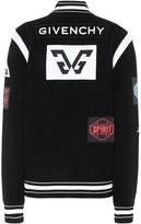 Givenchy Knit wool varsity jacket