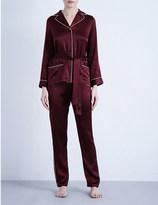 Marjolaine Soie unie silk-satin long pyjama set