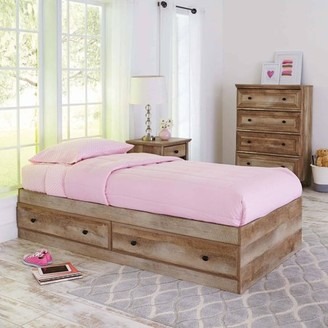 Better Homes & Gardens Better Homes and Gardens Crossmill Mates Storage Bed, Twin, Weathered Finish
