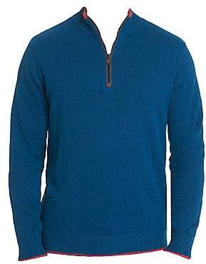 Robert Graham Men's Selleck Quarter Zip Sweater