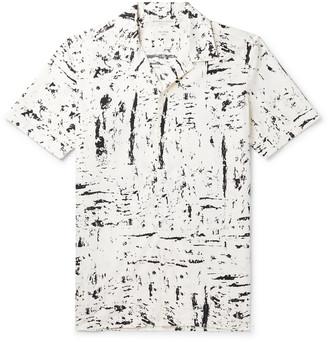 Bottega Veneta Camp-Collar Printed Cotton Shirt