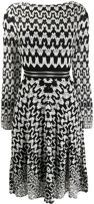 Missoni Geometric-Print Flared Dress