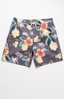 "Modern Amusement Hilley Sleepy Tropics 17"" Swim Trunks"