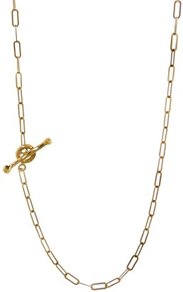 Cathy Waterman Yellow Gold 24 Inch Spanish Chain Necklace