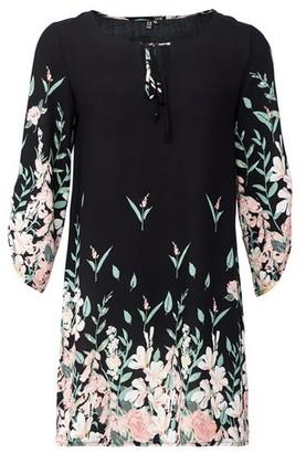 Dorothy Perkins Womens *Izabel London Black Border Print Shift Dress, Black