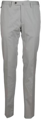 Pt01 Light Grey Cotton Silk Trousers