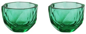 "Aspen Creative Corporation Aspen Creative Green Glass Votive Candle Holder 3"" Diameter x 2-1/2"" Height, 2 Pack"
