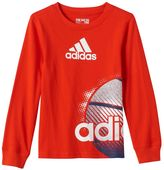 adidas Boys 4-7 Graphic Sports Tee