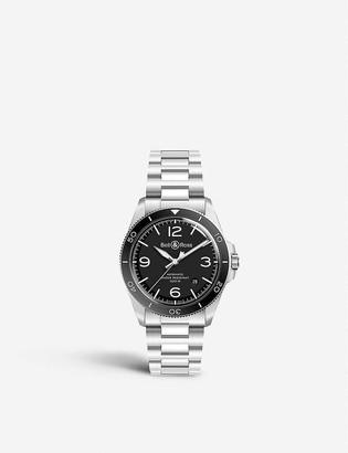Bell & Ross BRV292-BL-ST/SST V2-92 Vintage black steel watch