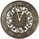 Whitehall Products 12 in. French Bronze Ivy Silhouette Wall Clock