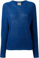 Laneus metallic knit longsleeve sweater - women - Polyamide/Polyester/Viscose - 38