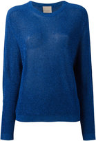 Laneus metallic knit longsleeve sweater