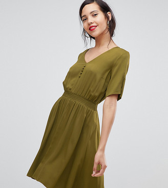Y.A.S Tall midi dress with elasticated waist