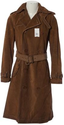 Ralph Lauren Brown Leather Coat for Women
