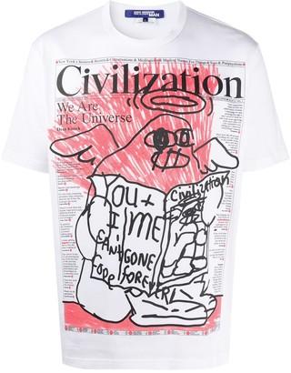 Junya Watanabe newspaper print T-shirt