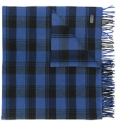 Saint Laurent checked fringed scarf