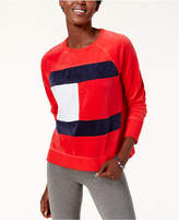 Tommy Hilfiger Velour Logo Sweatshirt, Created for Macy's