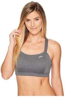 Brooks Juno Cross Back Adjustable High-Impact Sports Bra | Moving Comfort (Heather Asphalt) Women's Bra