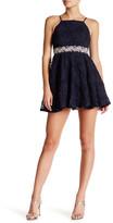 Trixxi Embellished Soutache Skater Dress (Juniors)
