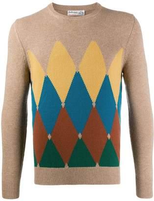 Ballantyne geometric print jumper
