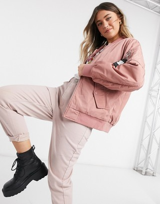 UGG frances oversized bomber in pink