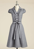 YELLOW STAR About the Artist A-Line Dress in Grey