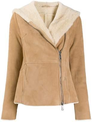 Giorgio Brato shearling lined hooded jacket