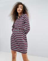 Brave Soul Hilda Shirt Dress In Geo Print