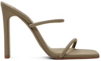 Yeezy Beige Minimal Heel Sandals