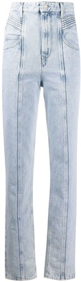 Etoile Isabel Marant High-Rise Pleat Panel Jeans