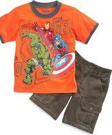 Nannette Marvel Kids Set, Little Boys 2-Piece Avengers Short Set